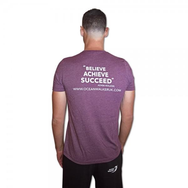 "Ocean Walker T-SHIRT ""Believe Achieve Succeed"""