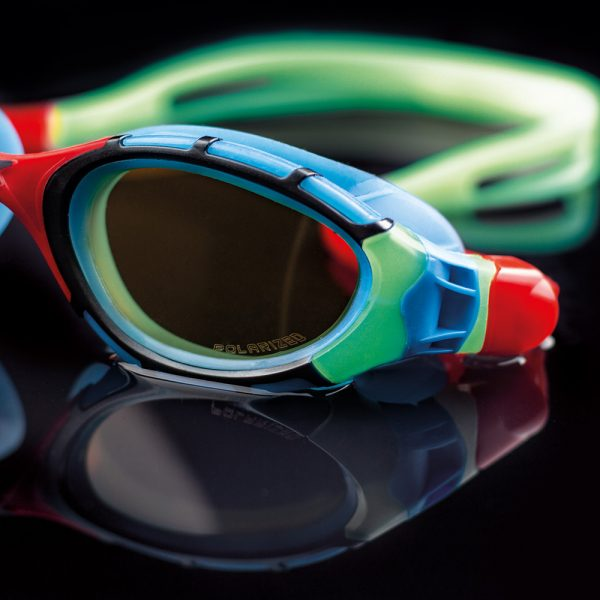 Glow in the dark swimming goggles
